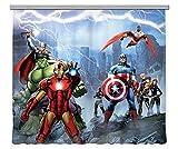 AG Design – Gardinen – Vorhänge – Fotogardinen - Kinderzimmer Avengers Marvel – 280 x 245 cm – 2 Teile - FCS XXL 7028