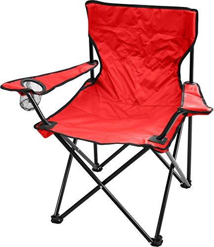 normani Campingstuhl Faltstuhl Klappstuhl Anglerstuhl Getränkehalter Stuhl Gartenstuhl bis 110 kg Farbe Rot