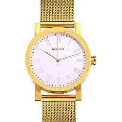 MEDOTA Minimalist Light Series Women's Automatic Water Resistant Analog Quartz Watch - No. 21904 (Gold)