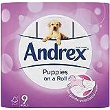 Chiots Andrex Rouleau papier toilette, 9rouleaux