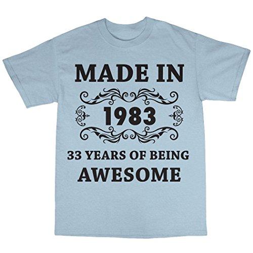 Made In 1983 T-Shirt 100% Baumwolle Hellblau