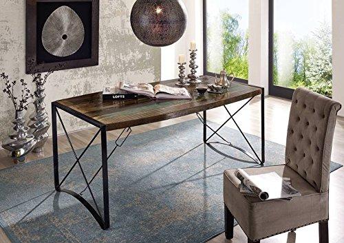 Tavolo Da Pranzo Industriale : Legno massello legno antico ferro laccato tavolo da pranzo