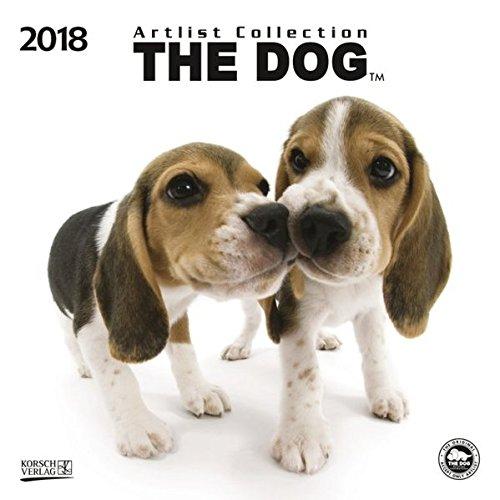 Preisvergleich Produktbild The Dog 2018: Broschürenkalender mit Ferienterminen. Süße Nahaufnahmen von Hunden mit edlem weißen Hintergrund. 30 x 30 cm