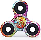#8: Galaxy Shade Colorful Fidget Spinner Advisory Anti Stress Ball Finger Spin Rotating Toy with Camouflage print(color may vary)
