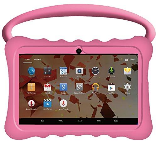 "Kids BTC Flame+ UK 7"" Quad Core Tablet PC (1GB RAM, 8GB HDD, IPS display, Google Android 4.4, WIFI, USB, Bluetooth) - Pink"