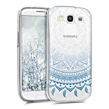kwmobile Samsung Galaxy S3 / S3 Neo Hülle - Handyhülle für Samsung Galaxy S3 / S3 Neo - Handy Case in Blau Weiß Transparent
