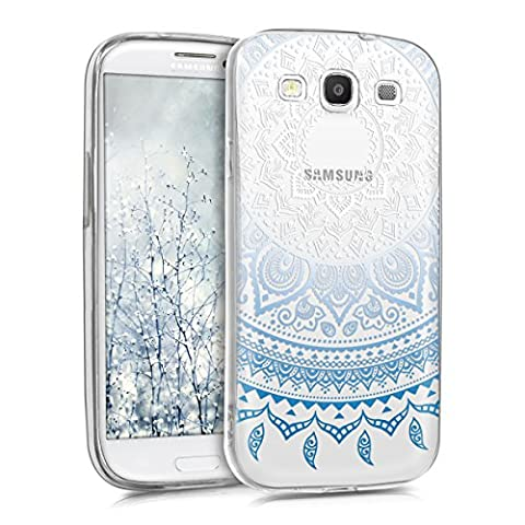 kwmobile Crystal Case Cover for Samsung Galaxy S3 / S3 Neo with IMD design and TPU silicone frame with synthetic back - transparent soft mobile protective case bumper Design Indian sun