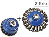 2 tlg Set Topfbürste 75mm
