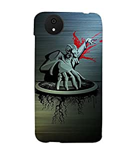 ABSTRACT MONSTER PICTURE 3D Hard Polycarbonate Designer Back Case Cover for Micromax Android A1::Micromax Canvas A1 AQ4502