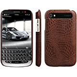 HualuBro BlackBerry Classic Hülle, [Ultra Slim] Premium Leichtes PU Leder Leather Handy Tasche Schutzhülle Case Cover für BlackBerry Classic Q20 Smartphone (Braun)