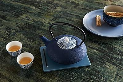 Bredemeijer G021BP Théière Yantai avec Couvercle en Porcelaine Fonte Bleu 187 x 237 x 179 cm