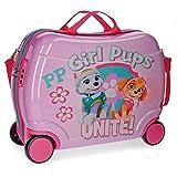 Paw Patrol Girls Pups Equipaje Infantil, 50 cm, 34 Litros, Rosa