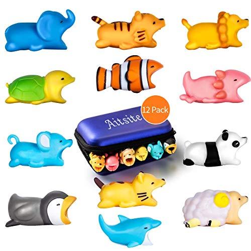 Preisvergleich Produktbild Aitsite Kabelschutz Niedliches Tier Prime Protector Handy-Zubehör (12-teilig, Löwe + Pinguin + Maus + Panda + Clownfisch + Schildkröte + Tiger + Schaf + Salamander + Elefant + Katze + Delphin)