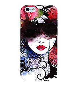 Colourful Girl Graffiti 3D Hard Polycarbonate Designer Back Case Cover for Apple iPhone 6