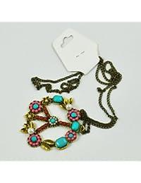 8374ed901b6e SODIAL(R) Collar de Cadena Colgante de Cuenta Perla Diamante de Imitacion  Signo Simbolo