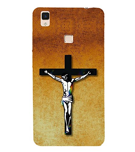 Fiobs Designer Back Case Cover for Vivo V3 (Jesus Christ Cross)