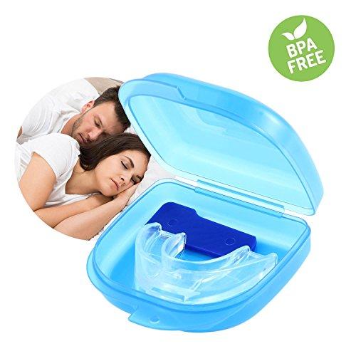 KOBWA Aufbissschiene Zähneknirschen Anti Schnarch Schiene Mundschutz, Zahnschutz Gegen Schnarchen für ruhigen, tiefen Schlaf, Einfach zu Verwenden, Anpassbar und Formbar