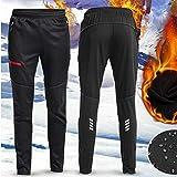 JenNiFer Uomini Donne Termici in Pile Invernali Pantaloni da Corsa Sportswear Pantaloni Riflettenti Impermeabili - 2XL