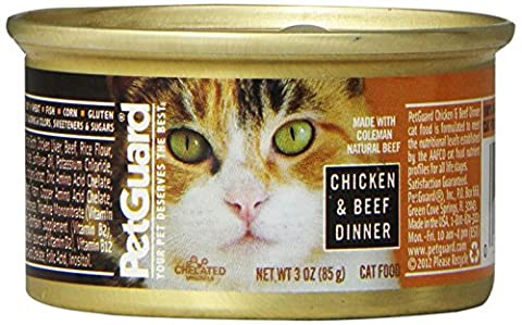 Pet Guard Petguard Chicken And Beef Cat Food, 3--Ounce (Pack Of 24)