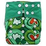 Happy Cherry Bébé Naissances Culottes d'apprentissage Lavables Pantalon Couche Avec Bouton Taille Réglable - Vert