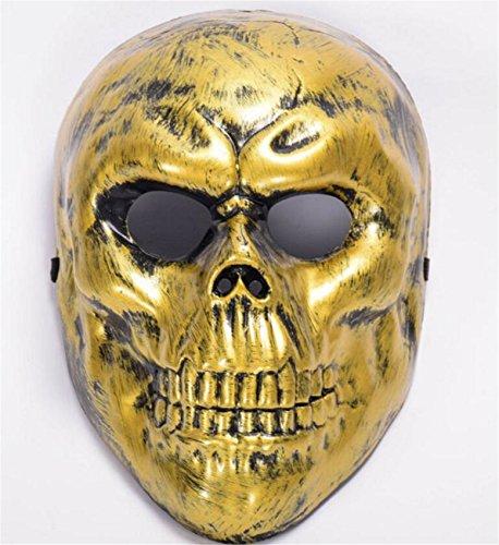SHUNLIU Totenschädel Horrormaske Schädel Halloweenmaske Maske Totenkopf Schädel metallisch glänzend Faschingsmaske Halloween (Das Kostüm Schwein Glänzende)