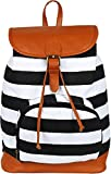 #4: Stylish BackPack Bag For Women And Girls (Cream & Black) - KEN