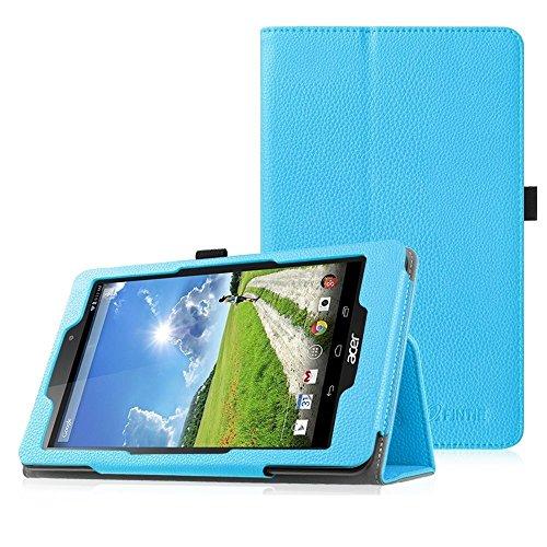 Fintie Acer Iconia One 8 (B1-810) Hülle - Hochwertige Kunstleder Slim Fit Stand Case Cover Schutzhülle Tasche Etui für Acer Iconia One 8 (B1-810) 20,3 cm (8 Zoll) Tablet, Blau