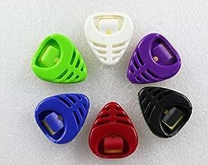 Jinzhicheng 6pz triangolare plettri per chitarra Pad clip a forma di cuore (colore casuale)