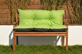 Cristal Gartenbankauflage Bankauflage Sitzpolster Bankkissen Sitzkissen und Rückenkissen Polsterauflage leicht zu reinigen (110 cm, Grün)