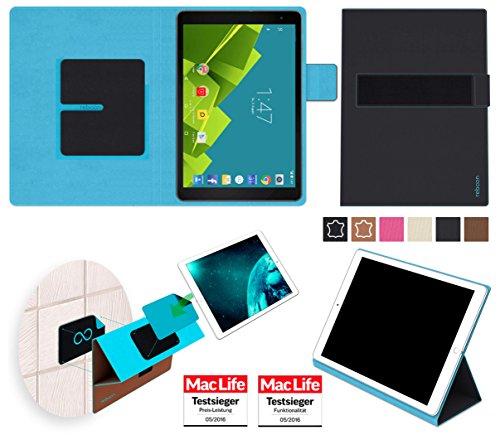 reboon Hülle für Vodafone Tab Prime 6 Tasche Cover Case Bumper | in Schwarz | Testsieger