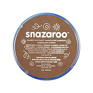 Snazaroo - Pintura facial y corporal, 18 ml, color marrón beige