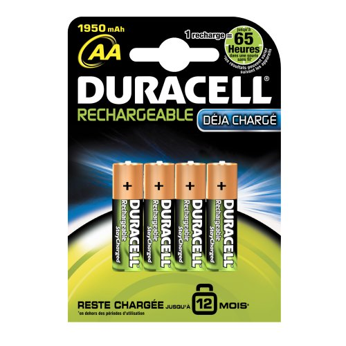 Duracell - Pile Rechargeable - AA x 4 - 1950 mah (HR6)
