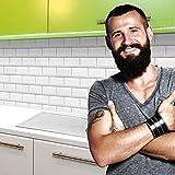 StickerProfis Küchenrückwand Selbstklebend Pro Weisse KACHELN 60 x 60cm DIY - Do It Yourself PVC Spritzschutz