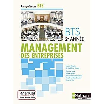 Management des entreprises BTS 2e année