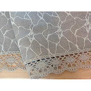 Leinen Tischdecke Natural Grau 2.40m x 1.52m