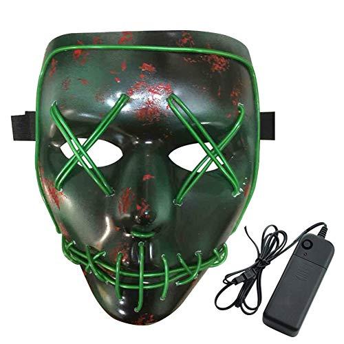 AITOCO LED Halloween Masken,3V EL Wire Erschreckend Erwachsene -
