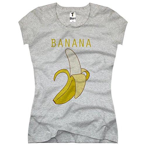 TEE-Shirt, Damen T-Shirt mit Aufdruck in Weiß, Schwarz und Grau
