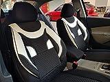 Sitzbezüge k-maniac | Universal schwarz-Weiss | Autositzbezüge Set Vordersitze | Autozubehör Innenraum | Auto Zubehör für Frauen und Männer | V430183 | Kfz Tuning | Sitzbezug | Sitzschoner