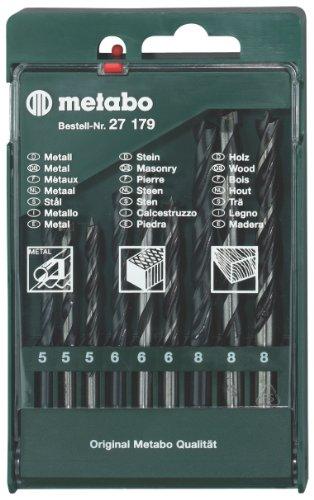 Metabo 6.27179 - Set punte per trapano, in cassetta, 9 pezzi