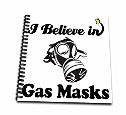 3dRose db_105173_2 I Believe in Gas Masks-Memory Book, 12 by 12-Inch