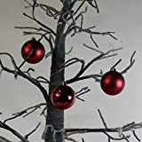 Lucht Weihnachtskugeln, Kunststoff, 30 Stück, dunkelrot, 6 cm