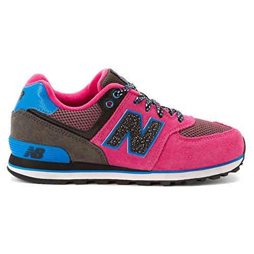New Balance KL574 Kinder Schuhe Blau-Braun-Rosa