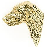 SCOTTISH DEERHOUND Made in U.K Artistic Style Dog Clutch Lapel Pin Collection 22ct Gold Plated by DOG ARTS JP