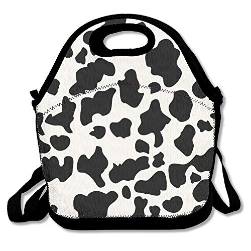 054877d14f804c Cow Print Lunch Bags Insulated Travel Picnic Lunchbox Tote Handbag With  Shoulder Strap For Women Teens Girls Kids Adults