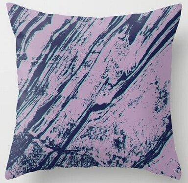 Alexander Nice Geschenk Lila Violett Marbel Effekt Elegante Personalisierte Überwurf Kissen Cover Home dekorativer Überwurf-Kissenbezug Quadratisch Reißverschluss, 18x18inch