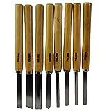 8pc intaglio legno scalpelli di tornitura del legno Carpenteria tornio ammaccare il disallineamento