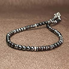 f114dd3ed99 Sublime Collier Homme perles Ø6mm pierre Naturelle Agate Onyx noir mat  hématite.