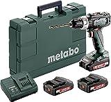 Metabo 602321540 BS 18 L Akkubohrschrauber, 3 x 2,0 AH Akku Set, 18 V, 200 W