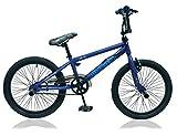 Frank Bikes 20 Zoll BMX Kinder Bike Fahrrad Rad KINDERFAHRRAD JUGENDFAHRRAD Freestyle 360° Rotor 4 Pegs Jumper BLAU