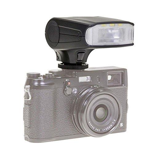 Dörr 370304 Systemblitzgerät DAF-320 für Olumpus/Panasonic Kamera (Leitzahl 32, TTL-Blitzautomatik, Stroboskopfunktion, Diffusorvorsatz, Tasche/Standfuß)